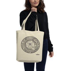 Bags - Rose Mandala tote bag by artist Tesoro Carolina
